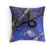 Tyre Tree Throw Pillow
