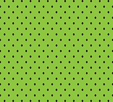 Mint Chocolate Polka Dots by ArtfulDoodler