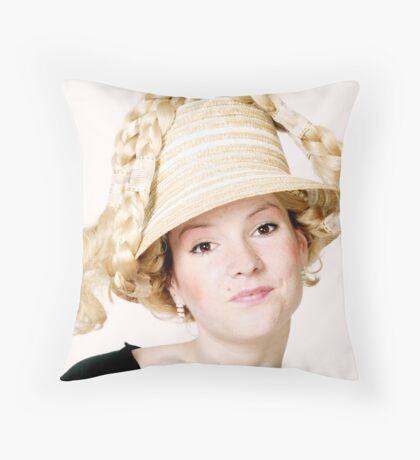 Blond girl Throw Pillow