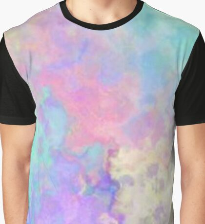 Colourful Tie Dye Graphic T-Shirt