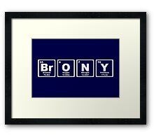 Brony - Periodic Table Framed Print