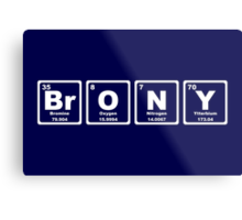 Brony - Periodic Table Metal Print