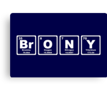 Brony - Periodic Table Canvas Print