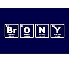 Brony - Periodic Table Photographic Print