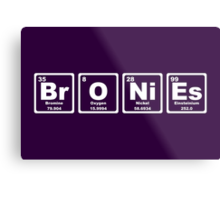 Bronies - Periodic Table Metal Print