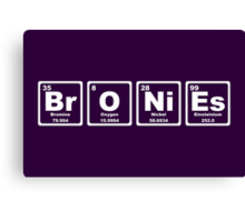 Bronies - Periodic Table Canvas Print