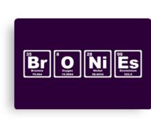 Bronies - Periodic Table Canvas Print