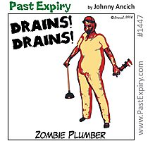 Cartoon : Zombie Plumber Photographic Print
