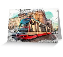The Tram of Wishes. Prague Greeting Card