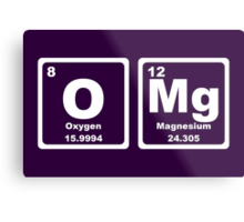 OMG - Periodic Table Metal Print
