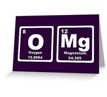 OMG - Periodic Table Greeting Card