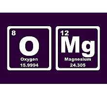 OMG - Periodic Table Photographic Print