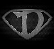 """The Letter D in the Style of """"Man of Steel"""" by BigRockDJ"""