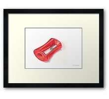 Pencil Sharpener Framed Print