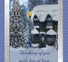 Thinking of You With Lots of Love at Christmastime by Vickie Emms
