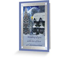Thinking of You With Lots of Love at Christmastime Greeting Card