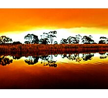 Marlo bush fire reflections Photographic Print