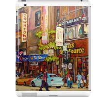 BUSY DOWNTOWN STREET SCENE CANADIAN URBAN SCENE BY CANADAIN ARTIST CAROLE SPANDAU iPad Case/Skin