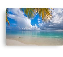 Postcard Perfection. Maldives Canvas Print