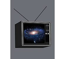 Nebula on Vintage T.V Photographic Print