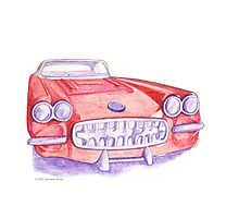 Toy Red Car Photographic Print