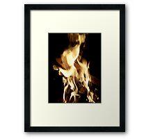 Flaming Guitar Framed Print