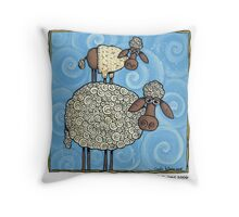 Sheep-stack Throw Pillow