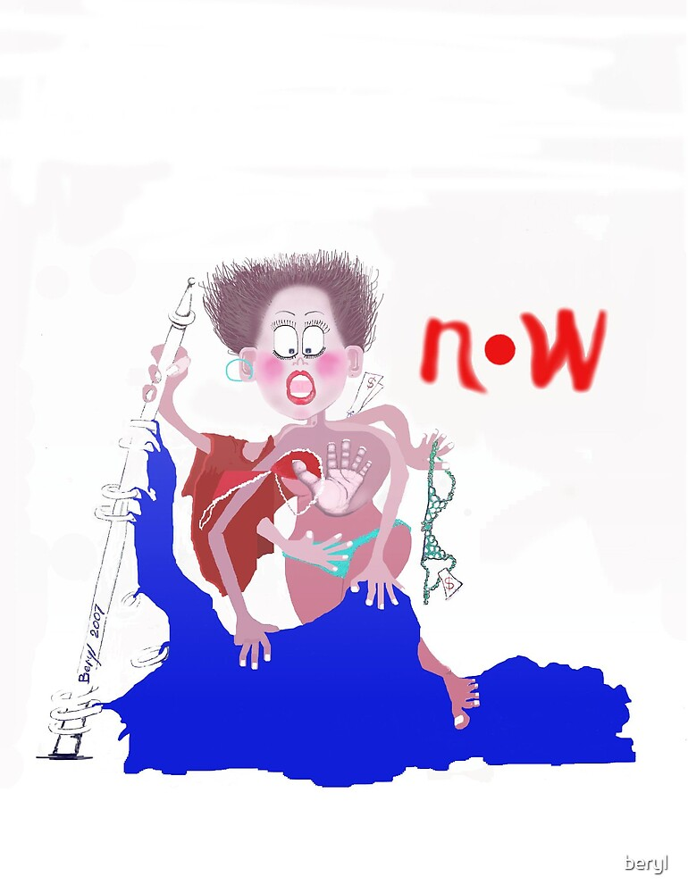 "FUN Card  "" NOW "" by Beryl Withnell"