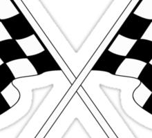 checkered flag Sticker