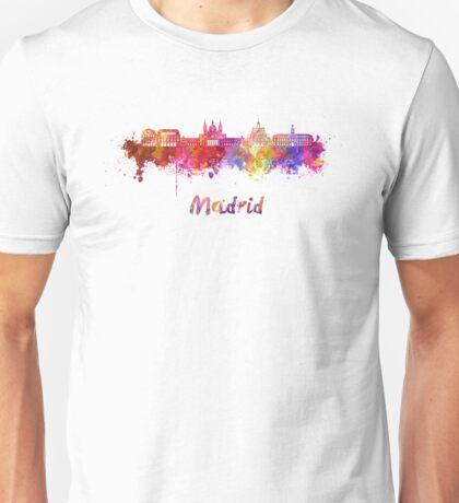 Madrid V2 skyline in watercolor Unisex T-Shirt
