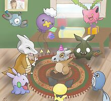 Cubone's Birthday Party by BrittanyPurcell