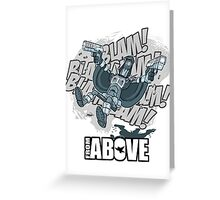 From Above Comic Greeting Card