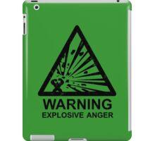 Warning: Explosive Anger iPad Case/Skin