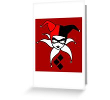 The Harlequin of Gotham Greeting Card