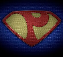 """The Letter P in the Style of """"Man of Steel"""" by BigRockDJ"""