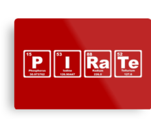 Pirate - Periodic Table Metal Print
