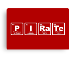 Pirate - Periodic Table Canvas Print