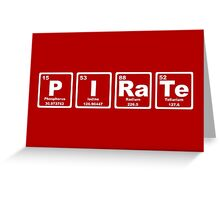 Pirate - Periodic Table Greeting Card