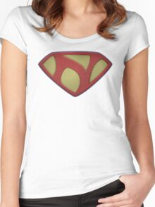 "The Letter N in the Style of ""Man of Steel"" Women's Fitted Scoop T-Shirt"