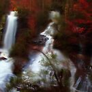 Double Water Fall Digital Art by DHParsons