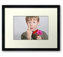 bold boy Framed Print