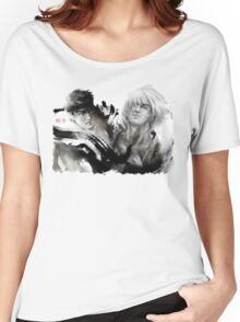 Ryu and Ken WHITE BACKGROUND BEST Women's Relaxed Fit T-Shirt