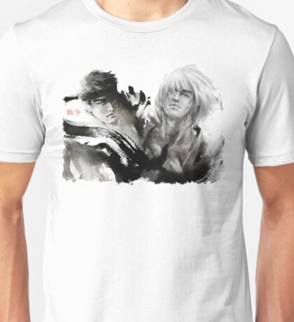 Ryu and Ken WHITE BACKGROUND BEST Unisex T-Shirt