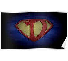 """The Letter D in the Style of """"Man of Steel"""" Poster"""