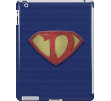 """The Letter D in the Style of """"Man of Steel"""" iPad Case/Skin"""
