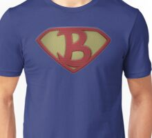 "The Letter B in the Style of ""Man of Steel"" Unisex T-Shirt"
