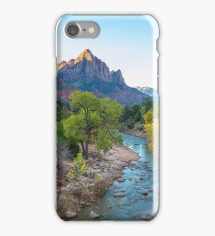 Sunrise At The Watchman - Zion National Park - Utah iPhone Case/Skin