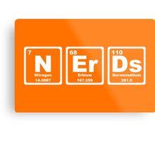 Nerds - Periodic Table Metal Print