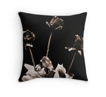 Dead Roses Throw Pillow