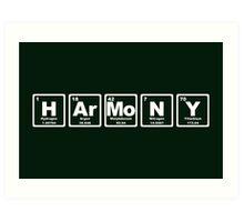 Harmony - Periodic Table Art Print